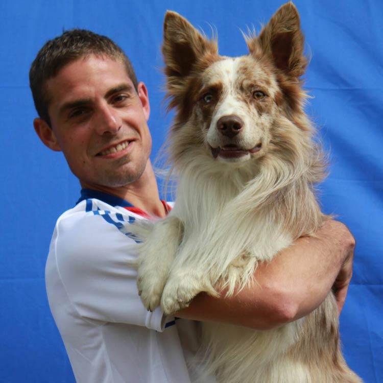 Adrien avec son chien