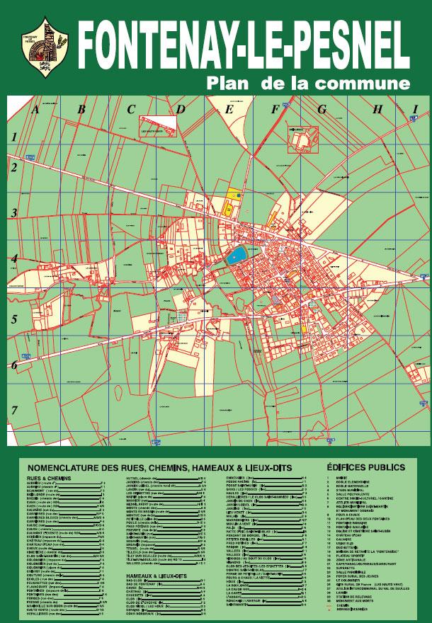 Plan de la commune de Fontenay